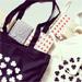 Tygpåse svart småklöver på Instagram
