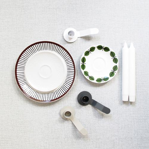 Ljushållare till assiett ljusgrå