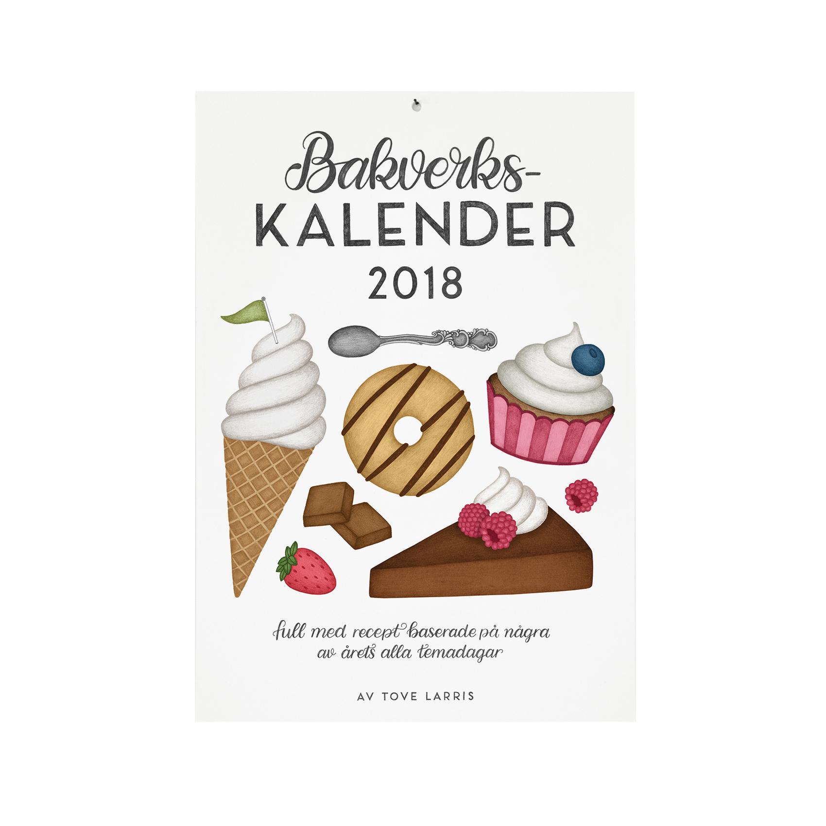 Bakverkskalender 2018 av Tovelisa med tolv recept