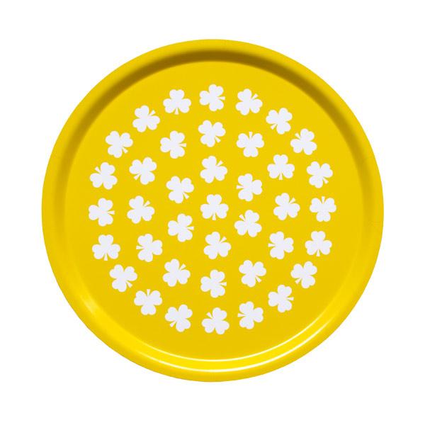 Rund bricka med klöver gul från Johanna.B