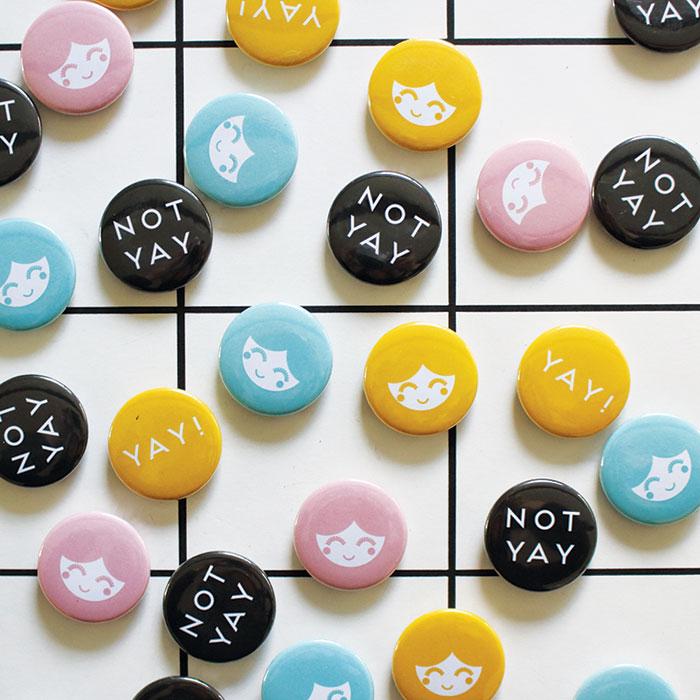 Magneter till kylskåp eller anslagstavla, färgglada