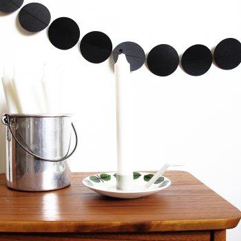 Ljushållare till assiett ljusgrå från Dekoop
