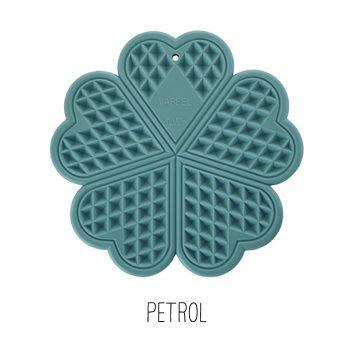 Grytunderlägg Våffla i silikon petrol