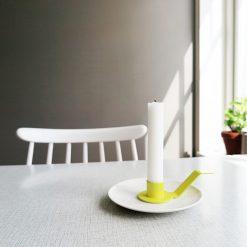 Ljushållare till assiett gul