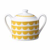 Sockerskål från House of Rym med mönstret Tu es la vague i gult