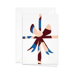 Dubbelvikt födelsedagskort från Pretty paper rosett