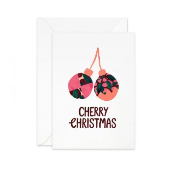 Julkort 4 pack från Pretty paper Cherry christmas