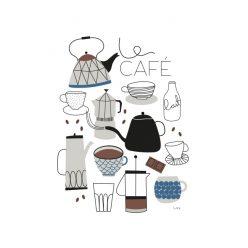 Poster Café i blått från Isa Form