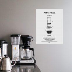 Poster Kaffe Aeropress från Owl Streets