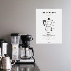 Poster Kaffe Moka pot från Owl Streets