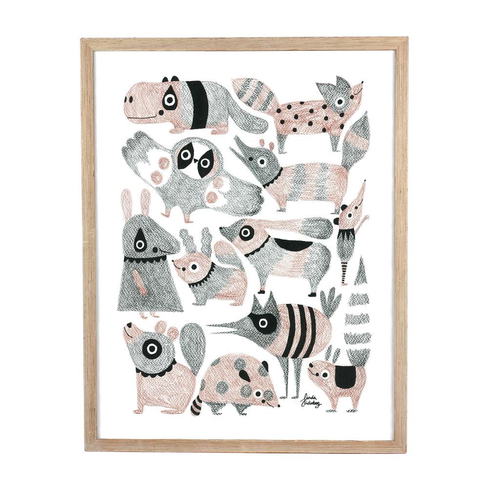 Poster Kritdjur av Linda Jäderberg
