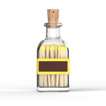 Tändstickor från Eldstickan i färgen gul