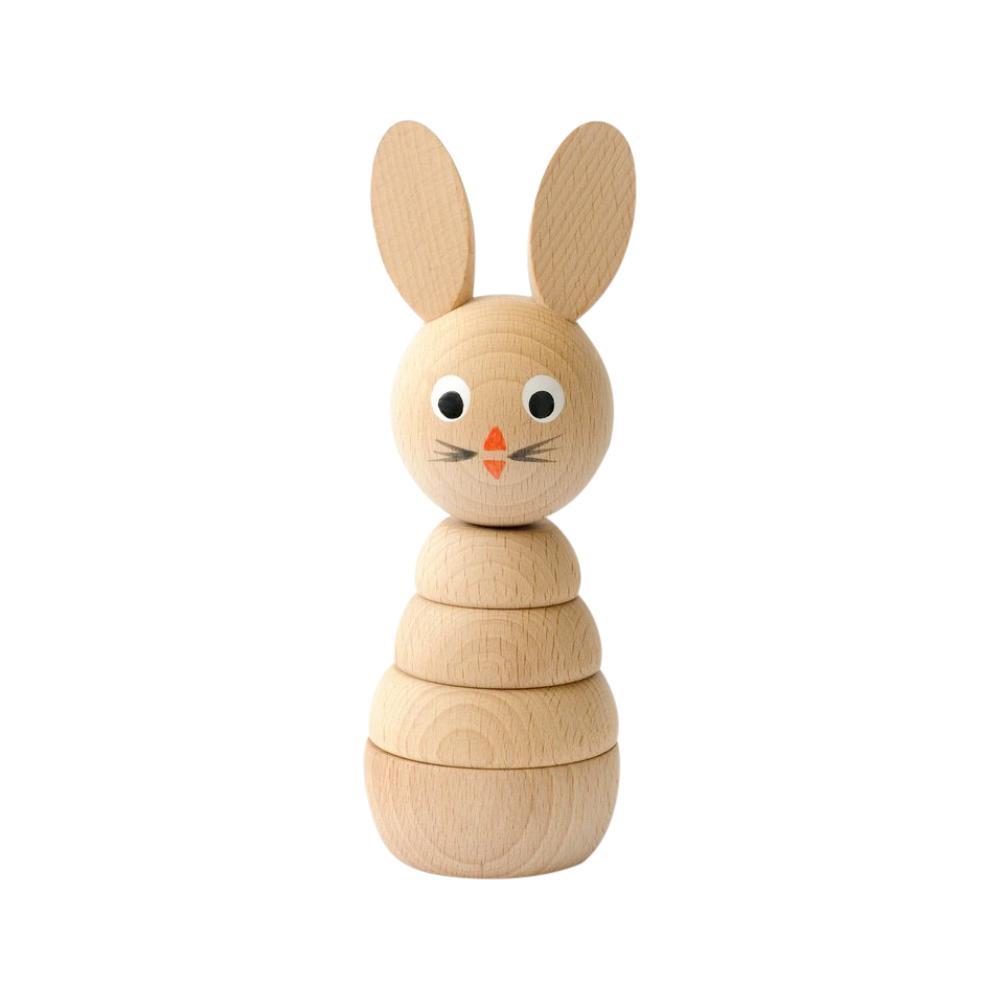 Stapelleksak kanin i trä från Sarah & Bendrix