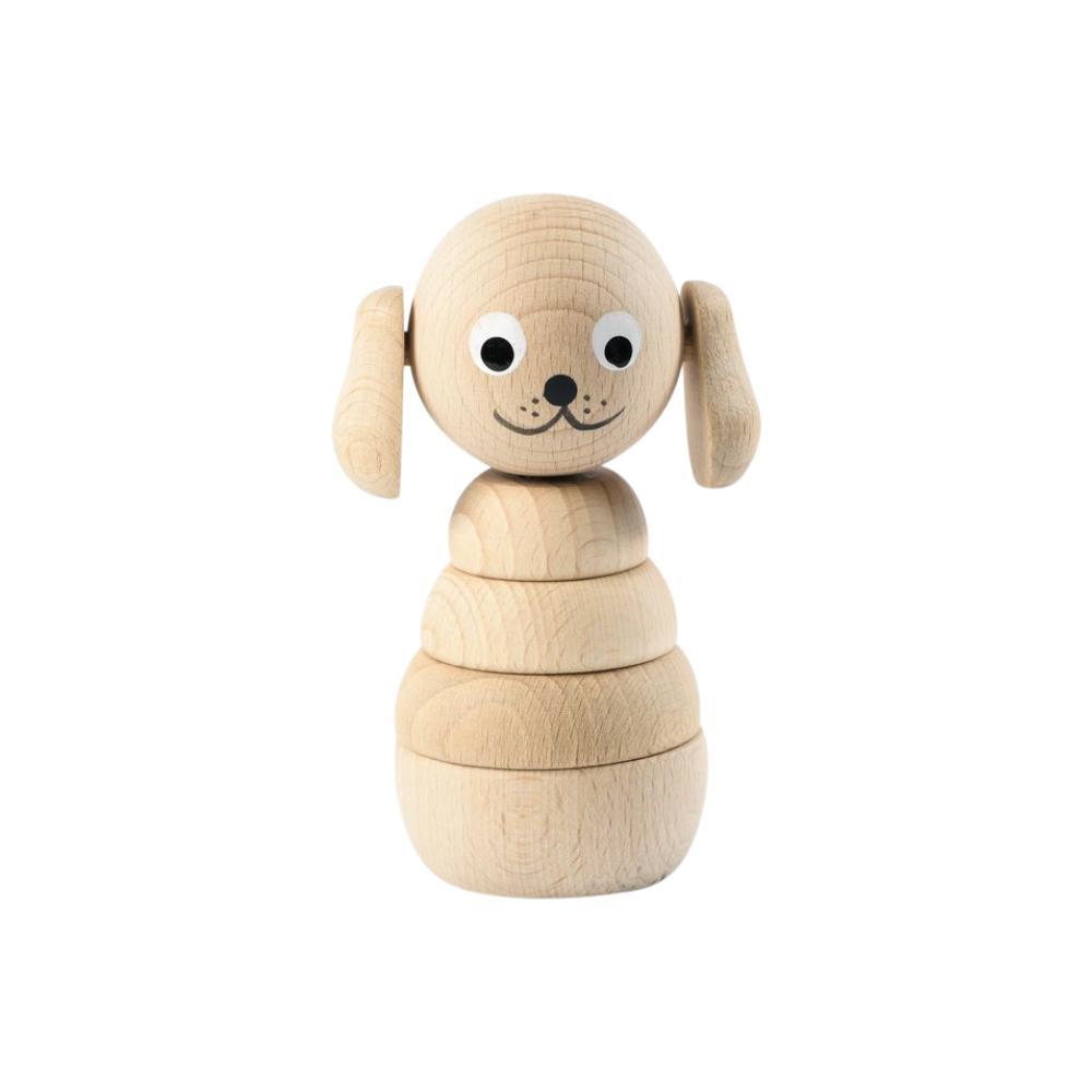 Stapelleksak hund i trä från Sarah & Bendrix