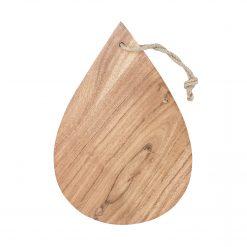 Underlägg i akaciaträ med formen av en droppe från House of Rym