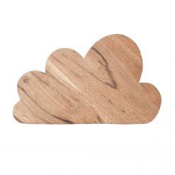 Underlägg i akaciaträ med formen av ett moln från House of Rym