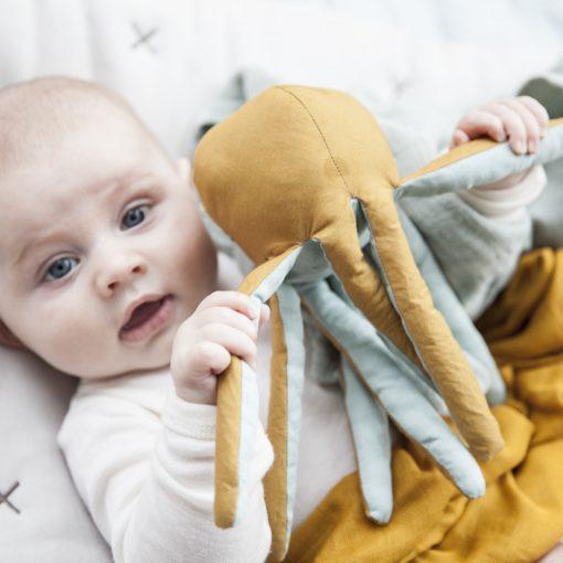 Gosedjur med skallra bläckfisk från Fabelab Octopus Rattle