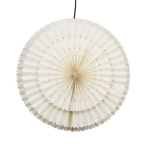 Julstjärna Flake rund som en snöflinga i vitt papper från Afroart