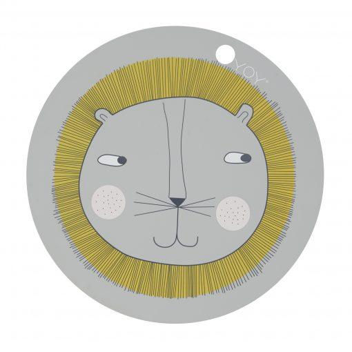 Bordsunderlägg i silikon med lejon från Oyoy Placemat Lion