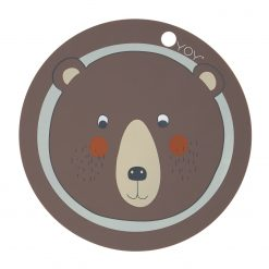 Bordsunderlägg i silikon med en björn från Oyoy Placemat Bear