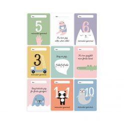 Babykort Ögonblickskort till bebisar och nyfödda present babyshower från Isaform
