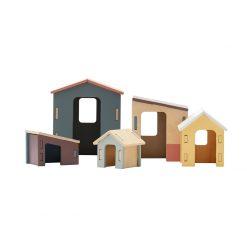 Enkel byggsats med små hus för små barn Edvin från Kids Concept