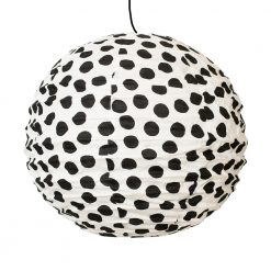 Lampskärm i tyg Big Dot prickig från Afroart