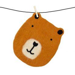 Sittdyna i ull formad som en björn för barn från Afroart