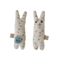 Skallra kanin i bomull från OYOY Baby Rattle Rabbit