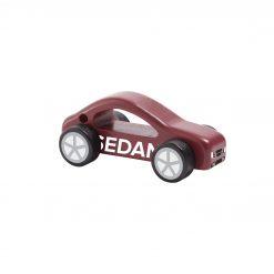 Träbil bil i trä röd sedan Aiden från Kids Concept