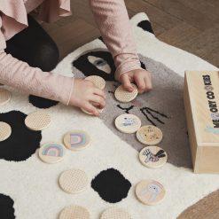 Spel i trä med djur och symboler Memory Cookies från OYOY Mini