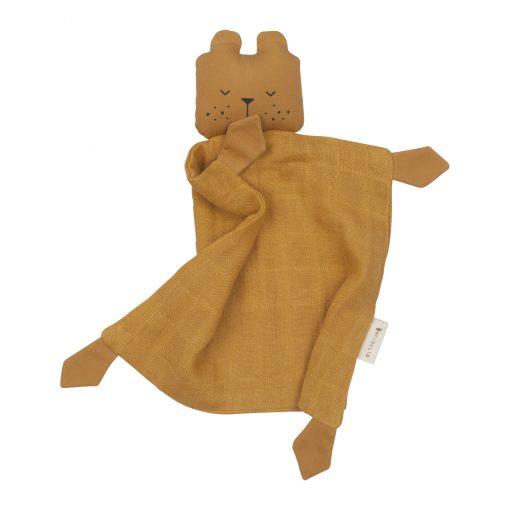 Snuttefilt roströd björn Animal Cuddle Bear ochre från Fabelab