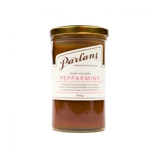 Kolasås med smak av pepparmint från Pärlans Konfektyr