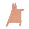 Snuttefilt eller snuttis i ekologisk bomull från Fabelab rosa kanin Bunny Old Rose