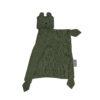Snuttefilt eller snuttis i ekologisk bomull från Fabelab grön björn Bear Olive
