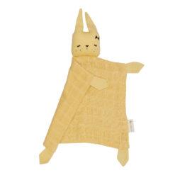 Snuttefilt eller snuttis i ekologisk bomull från Fabelab gul kanin Bunny Pale Yellow