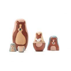 Trädockor Babushka med djur från Kids Concept