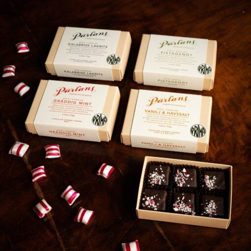 Kola i choklad från Pärlans Konfektyr