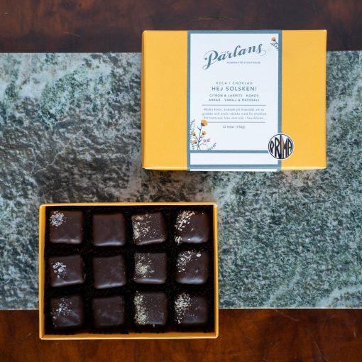 Kola i choklad från Pärlans Konfektyr i Stockholm Hej Solsken!