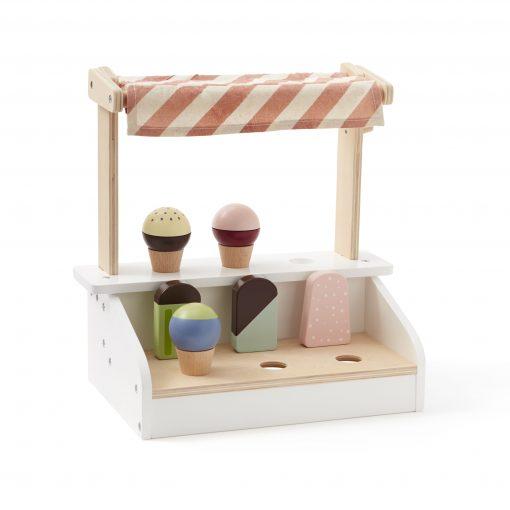 Glasstånd med glassar i trä från Kids concept