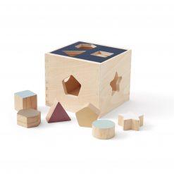 Plocklåda med klossar i trä från Kid's Concept