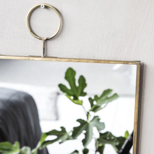 Spegel i mässing The Loop från House Doctor