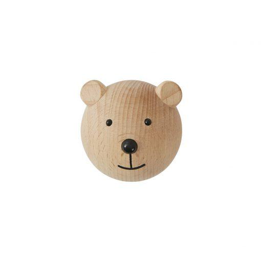 Knopp i trä björn från OYOY