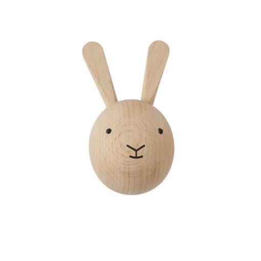 Knopp i trä kanin från OYOY