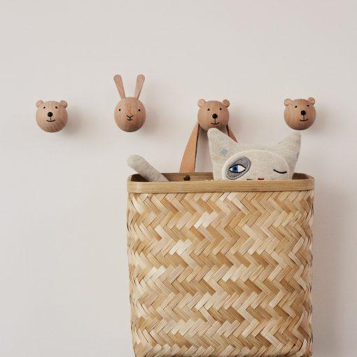 Knopp i trä kanin och björn från OYOY
