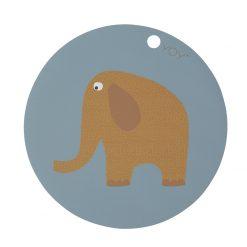 Bordsunderlägg i silikon elefant från OYOY