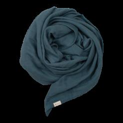 Blå filt i ekologisk GOTS-certifierad bomull Muslin Swaddle från Fabelab