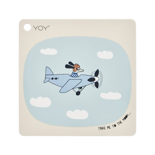 Bordsunderlägg i silikon med flygplan från OYOY