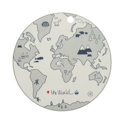 Bordsunderlägg i silikon med världskarta från OYOY