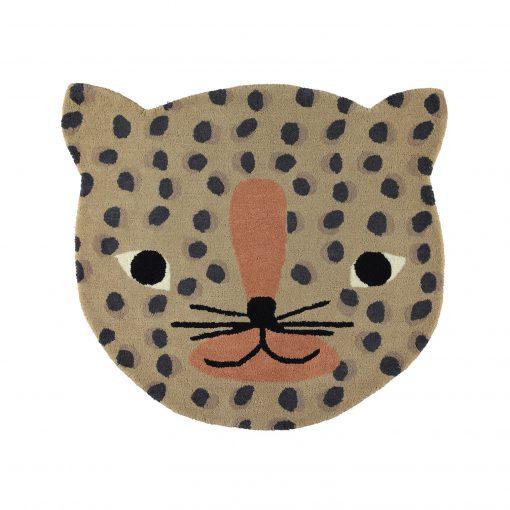 Rund matta med leopard från OYOY